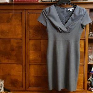 Banana Republic Gray Pleated Dress Size 4
